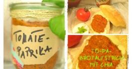 Tomaten Paprika Chia Brotaufstrich