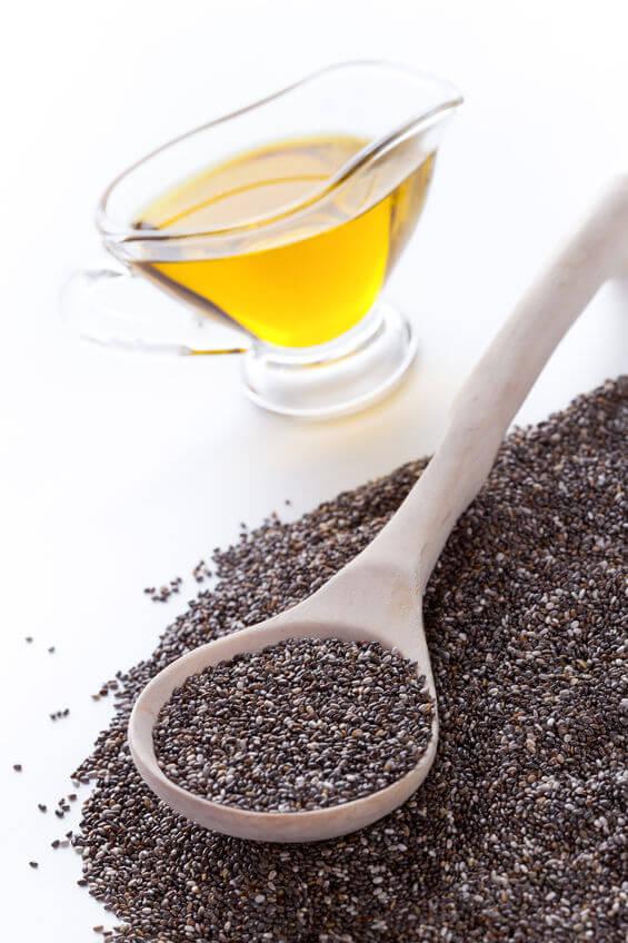 Chia Öl ist reich an Omega3 Fettsäuren